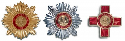 The Order of Saint Vladimir, an award of the Russian Orthodox Church