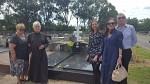 Irene, Subdeacon Vitaly, Elizabeth, Marina and John Lupish at Sandgate Cemetery