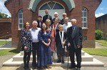 The Lupish family and parishioners after Divine Liturgy